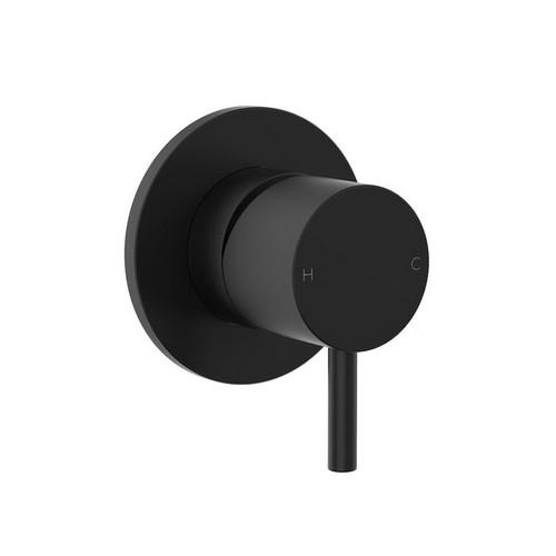 Round Pin Wall Bath / Shower Mixer Matte Black [156375]