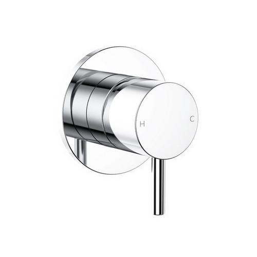 Round Pin Wall Bath / Shower Mixer Chrome [156376]