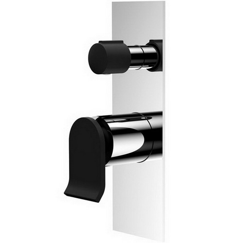 Lincoln Wall Bath /Shower Mixer with Diverter Matte Black [156861]