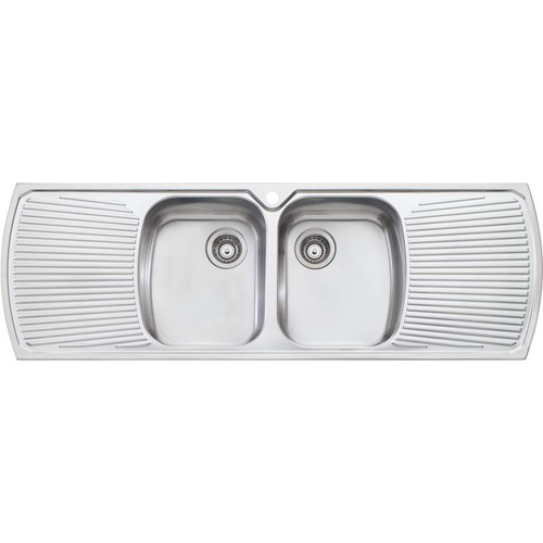 Monet Double Bowl Topmount Sink With Double Drainer-1TH [067334]
