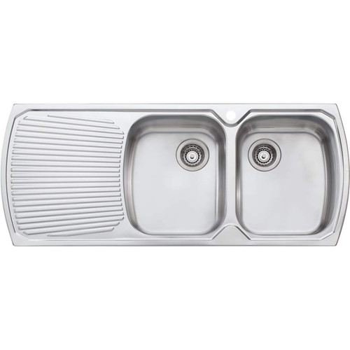 Monet Double Bowl Topmount Sink With Drainer-1TH [067338]