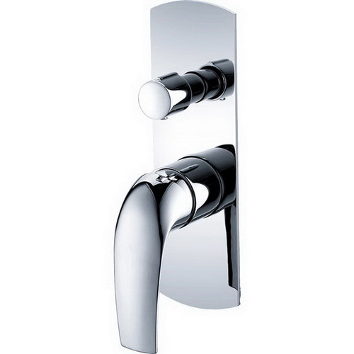 Keeto Wall Bath / Shower Mixer with Diverter Chrome [158225]