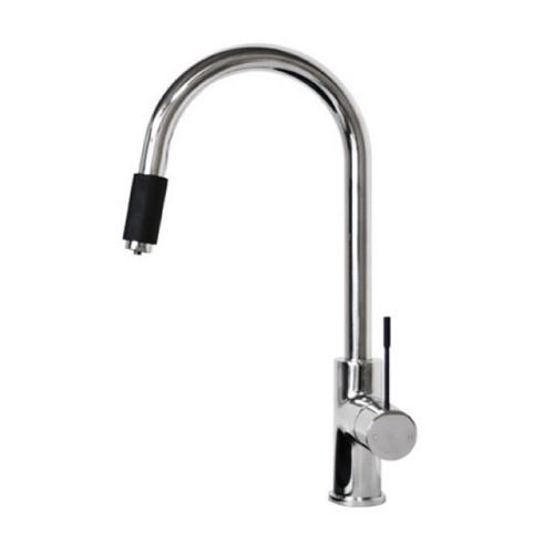 Indi 2 IN 1 Round Sink Mixer Matte Black/Chrome [159706]