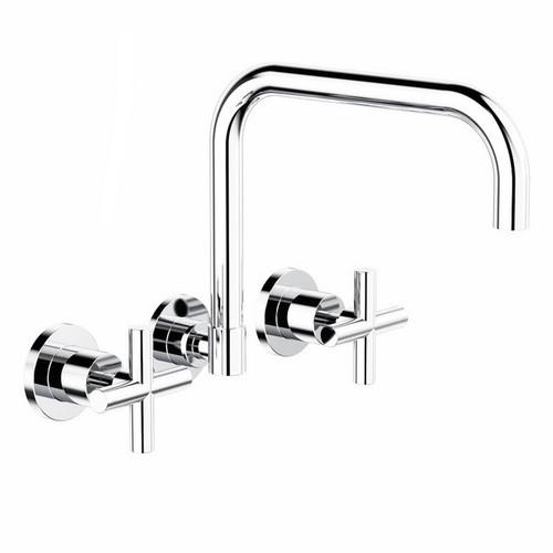 Cross Wall Sink Set Chrome [165171]