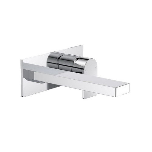 Round Square Wall Bath / Basin Mixer 220mm Chrome [165152]