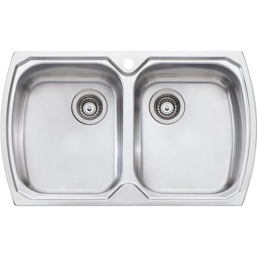 Monet Double Bowl Topmount Sink-1TH [067812]