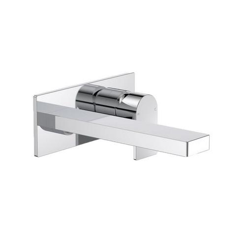 Round Square Wall Bath / Basin Mixer 180mm Chrome [165151]