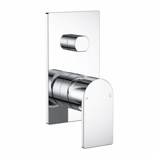 Round Square Wall Bath / Shower Mixer with Diverter Chrome [165162]