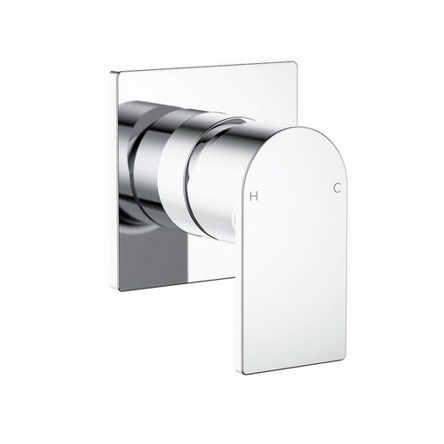 Round Square Wall Bath / Shower Mixer Chrome [165163]