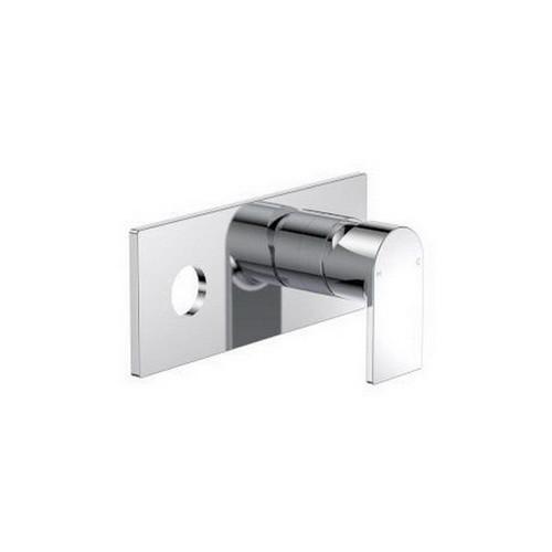 Round Square Blade Wall Bath / Basin Mixer Plate Mount Kit Chrome [165321]