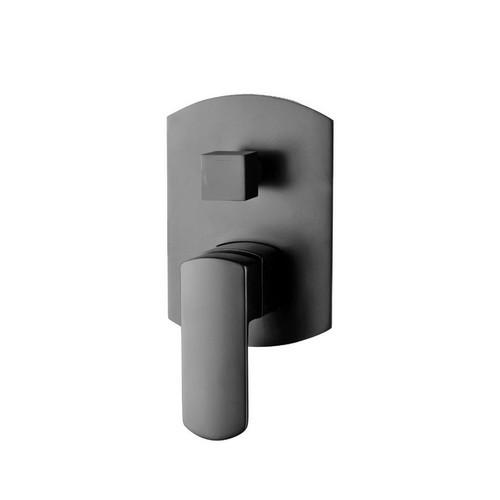 Koko Wall Bath / Shower Mixer with Diverter Matte Black [165446]