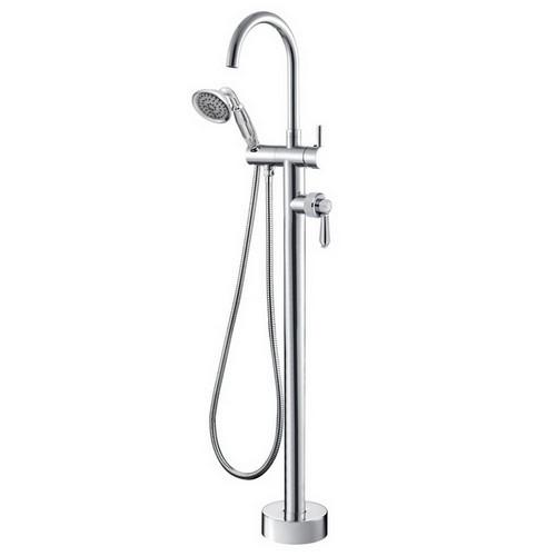 Eleanor Floor Mount Bath Filler with Shower Chrome [169621]
