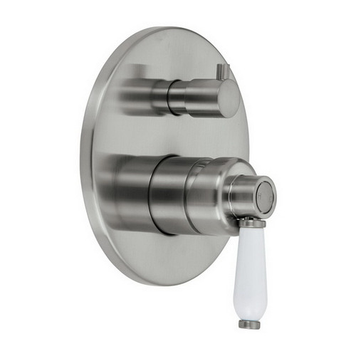 Eleanor Wall Bath / Shower Mixer with Diverter Brushed Nickel / Ceramic [169626]
