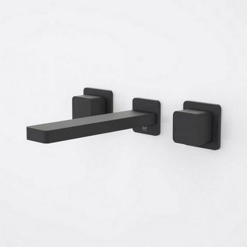 Epic Bloc Wall Bath / Basin Set 180mm Black Handles [192298]