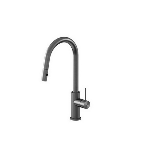 Mecca Sink Mixer with Pull-Out Vegie Spray Function Gun Metal [194744]