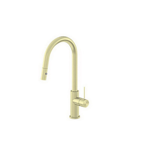 Mecca Sink Mixer with Pull-Out Vegie Spray Function Brushed Gold [194745]