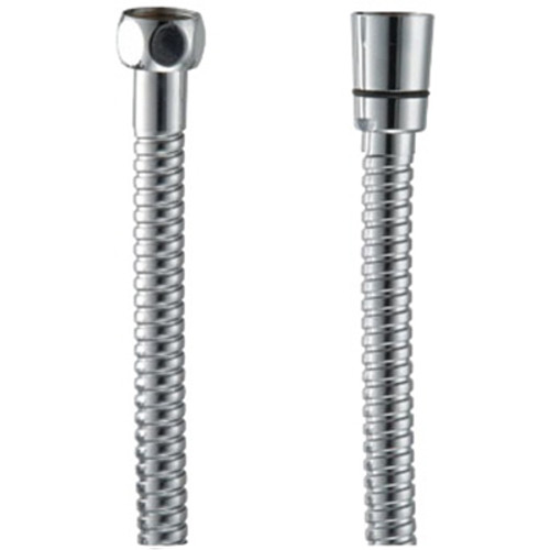 Metal Shower Hose Double Wound Swivel Nut 1500mm Chrome [122492]
