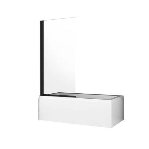 Fitzroy 800mm Pivot Panel Bath Shower Screen Matte Black [180793]