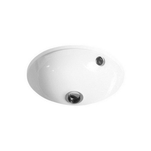 Entice Under Counter Basin Round 370mm x 150mm Gloss White [113637]