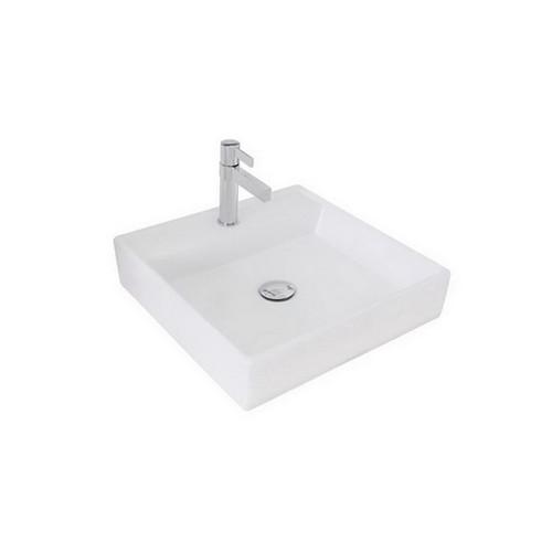 Ledge Above Counter Basin 450mm x 450mm x 100mm Gloss White [126036]