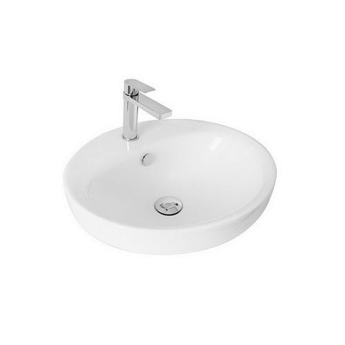 Eye Semi-Inset Basin 490mm x 445mm x 65mm Gloss White [126038]