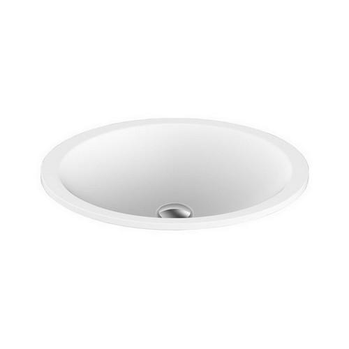 Sincerity Inset Vanity Basin 495mm x 365mm x 125mm Matte White [127543]