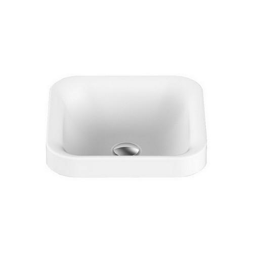 Truth Semi-Inset Basin 370mm x 370mm x 125mm Matte White [127545]