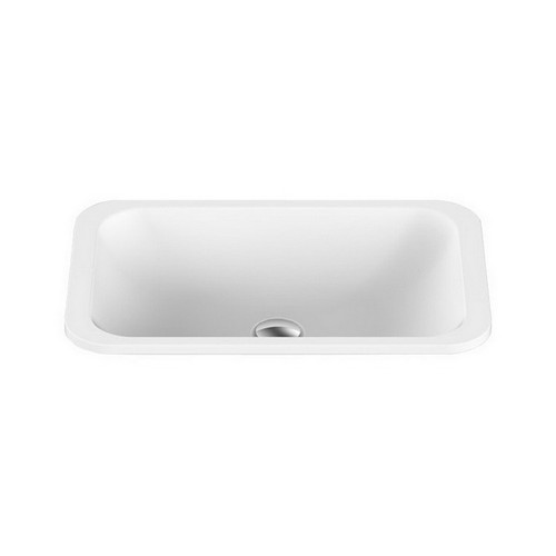 Glory Inset Vanity Basin 545mm x 355mm x 125mm Matte White [127534]