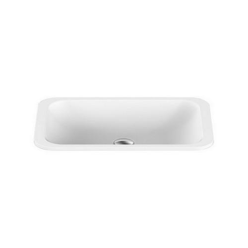 Hope Inset Vanity Basin 495mm x 255mm x 120mm Matte White [127536]