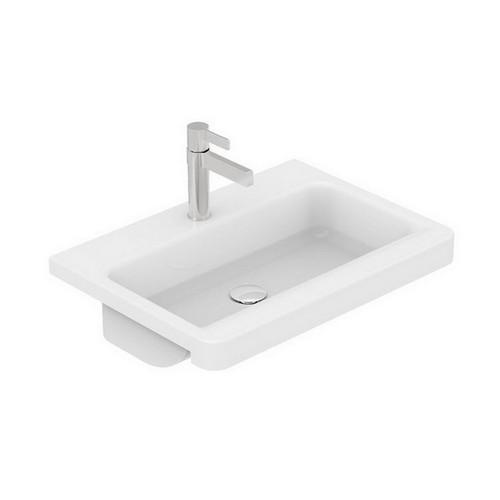 Integrity Semi-Recessed Basin 400mm x 550mm x 125mm Matte White [127538]