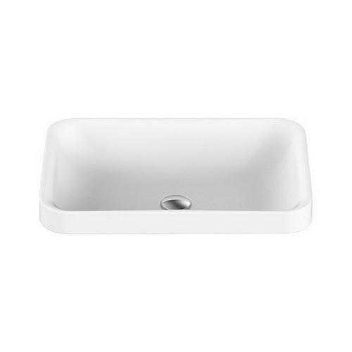 Pride Semi-Inset Basin 545mm x 365mm x 125mm Matte White [127541]