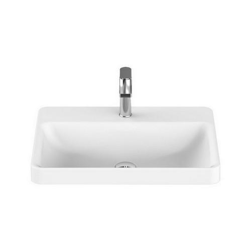 Courage Semi-Inset Basin 545mm x 425mm x 119mm Matte White [127531]