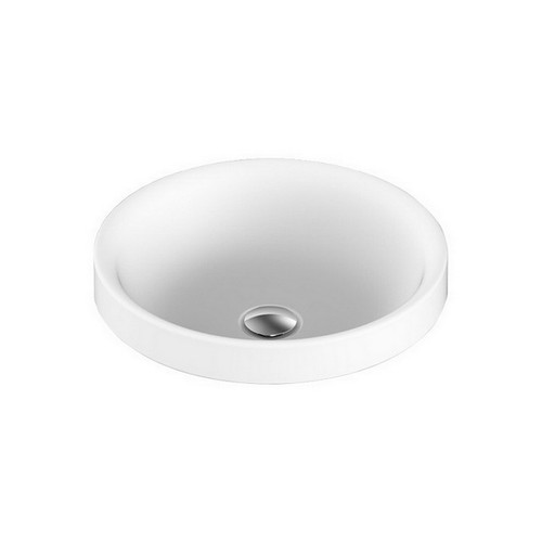 Respect Semi-Inset Basin 400mm x 400mm x 125mm Matte White [127542]
