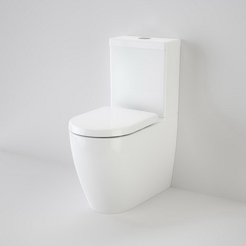 Urbane Wall Faced Close Coupled Back Entry Toilet Suite Soft Close Seat 4 Star White [133244]
