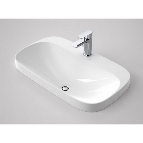 Moon Inset Vanity Basin 726mm x 428mm x 180mm No Tap Hole White [152181]