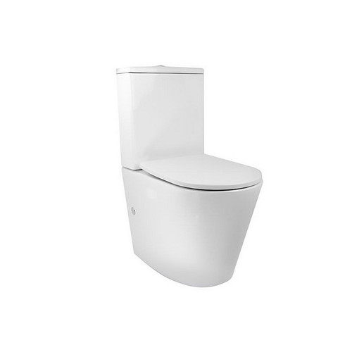 Renee Rimless Wall Faced Universal Back to Wall Toilet Suite with Nano Glaze White [156943]