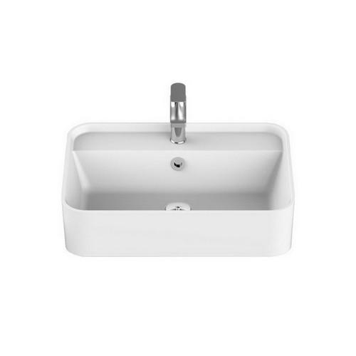 Miya Semi-Recessed Basin 550mm x 390mm x 150mm Gloss White [169941]
