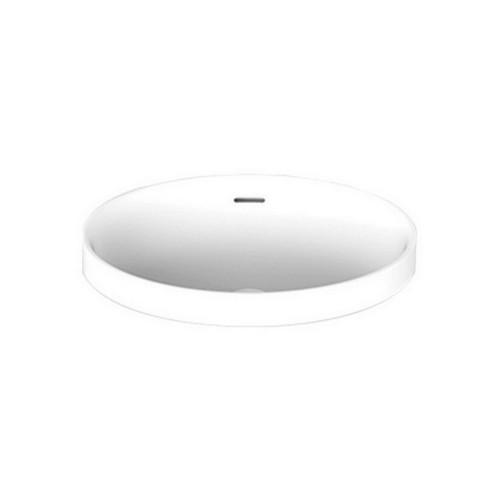 Ozera Above Counter Semi-Inset Basin Gloss 495mm x 387mm x 170mm Gloss White [169948]