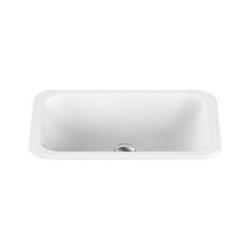 Glory Inset Vanity Basin 545mm x 355mm x 125mm Gloss White [169968]