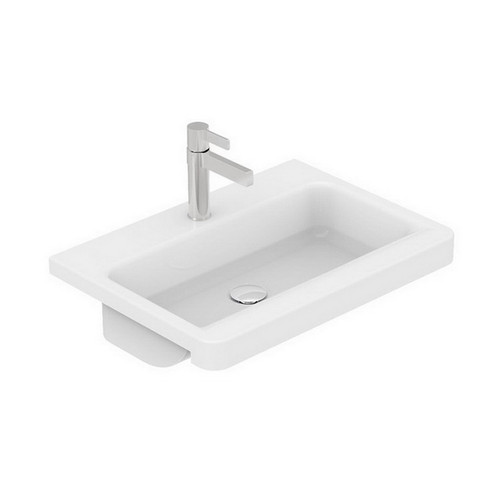 Integrity Semi-Recessed Basin 400mm x 550mm x 125mm Gloss White [169972]