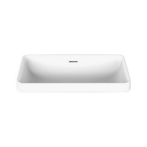 Zeya Above Counter Semi-Inset Basin 582mm x 346mm x 170mm Matte White [169984]