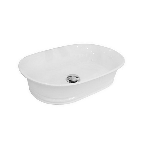 Titan Above Counter Basin 550mm x 385mm x 125mm Gloss White [169985]