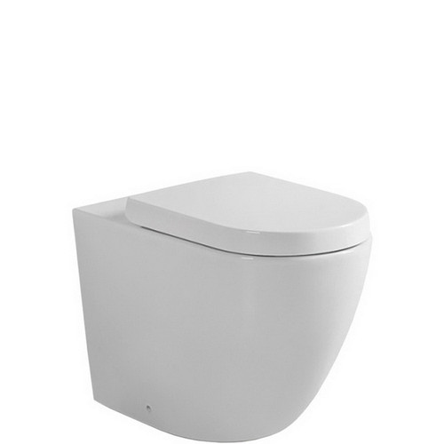 Koko Wall Faced Rimless SNV Toilet Suite with Geberit Sigma In-Wall Cistern No Button Gloss White [191469]