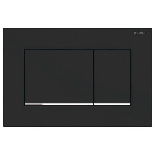 Geberit Sigma 30 Rectangular Button Dual Flush Plate Matte Black [191454]