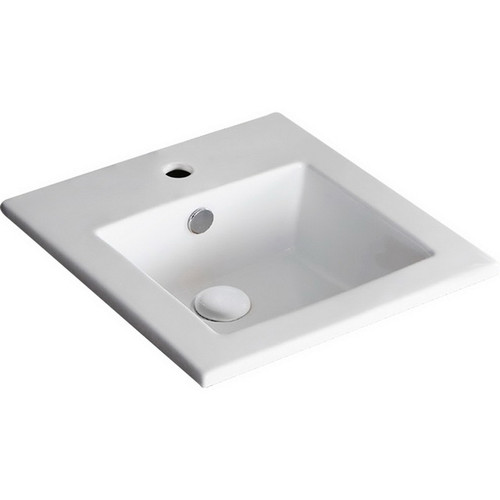 Alison Undermounted Basin 425mm x 425mm x 170mm 3 Tap Hole Gloss White [193177]