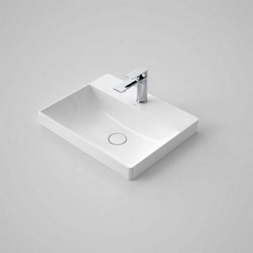 Urbane II Inset Vanity Basin 500mm x 400mm x 187mm 1 Tap Hole No Overflow White [195242]