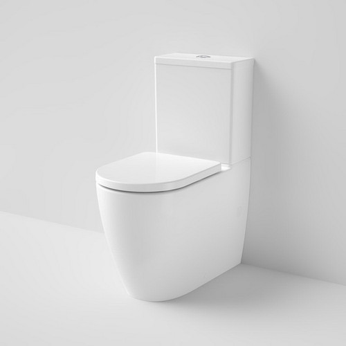 Urbane II Cleanflush Wall Faced Close Coupled Toilet Suite Bottom Inlet with Vogue soft Close Seat White [195977]