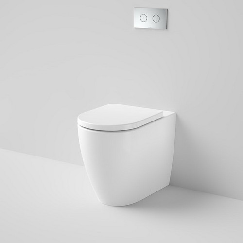 Urbane II Cleanflush Invisi Series II Wall Faced Toilet Suite Bottom Inlet with Vogue soft Close Seat White [195978]
