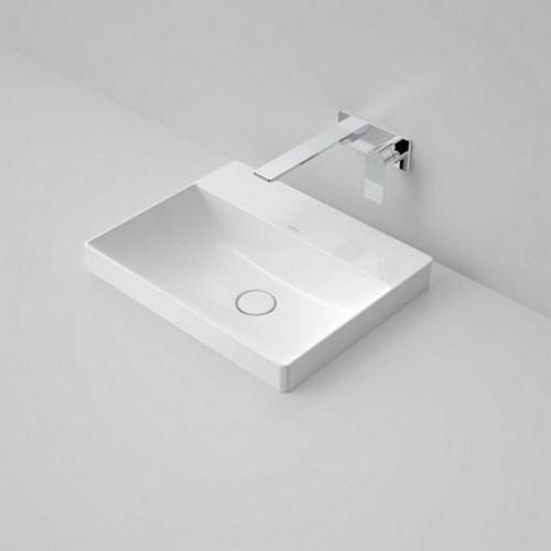 Urbane II Inset Vanity Basin 500mm x 400mm x 187mm No Tap Hole No Overflow White [195982]
