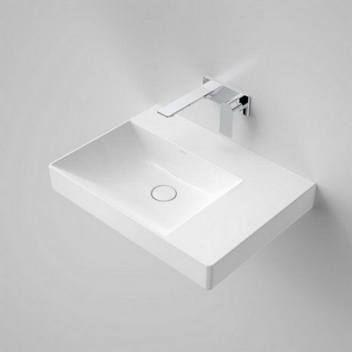 Urbane II Right Hand Shelf Wall Basin 600mm x 440mm x 187mm No Tap Hole No Overflow White [195986]